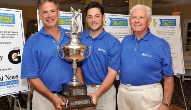 Mario Tobia, Matt Tobia, and Al Maiolo at the 2013 Guiding Eyes for the Blind Golf Classic